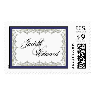Intricate Royal Tiara Border Wedding Postage