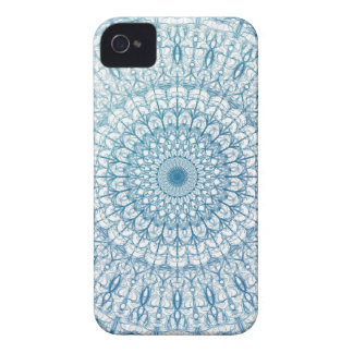 Intricate Sky and Turquoise Blue Fractal Design iPhone 4 Case-Mate Case