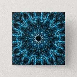 intricate snowflake pinback button