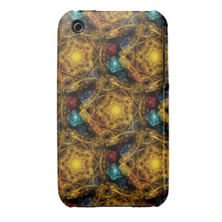 Intricate Snowflakes in the Shape of Pentagons iPhone 3 Case