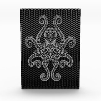 Intricate Steel Mesh Octopus Award
