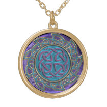 Intricate Stone and Metal Celtic Knot Mandala