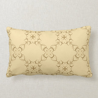 Intricate Swirl Design in Gold or Any Color Lumbar Pillow