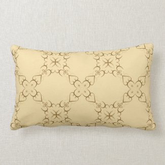 Intricate Swirl Design in Gold or Any Color Pillows
