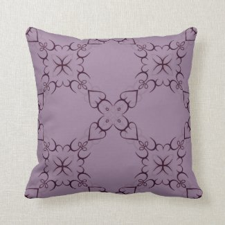 Intricate Swirl Design in Purple or Any Color Pillow