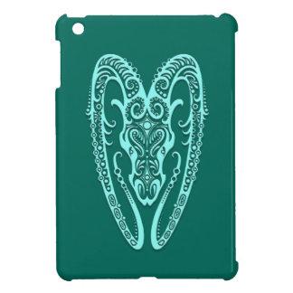 Intricate Teal Blue Aries Zodiac Case For The iPad Mini