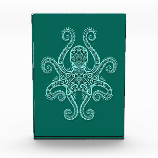 Intricate Teal Blue Octopus Awards