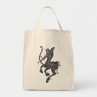 Intricate Tribal Sagittarius Grocery Tote Bag