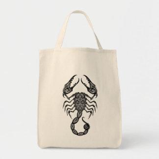 Intricate Tribal Scorpio Grocery Tote Bag