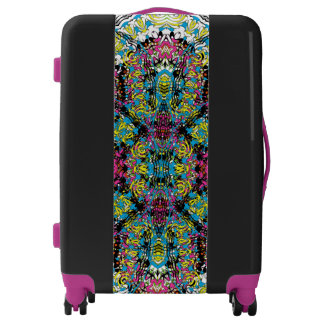 Intricate Vintage Damask Colorful Patterned Luggage