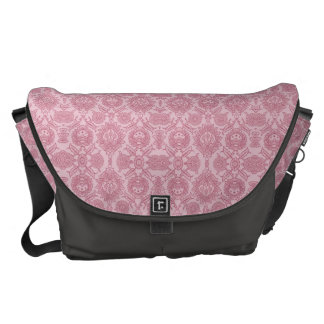 Intricate Vintage Floral - In Pink Messenger Bag