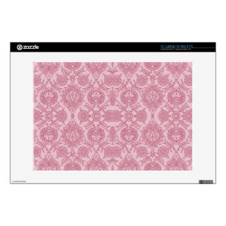 Intricate Vintage Floral - In Pink Decals For Laptops