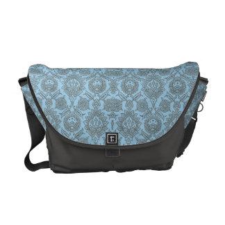 Intricate Vintage Floral - Light Blue Courier Bag