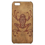 Intricate Vintage Tree Frog Case For iPhone 5C
