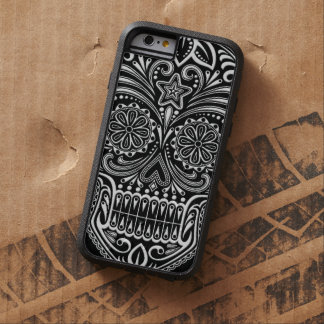 Intricate White and Black Sugar Skull Tough Xtreme iPhone 6 Case