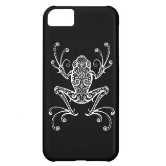 Intricate White Tree Frog on Black iPhone 5C Case