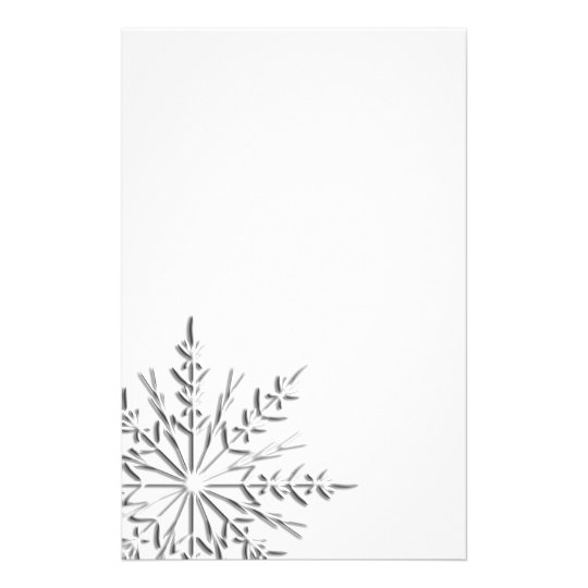 intricate winter snowflake stationery zazzle com