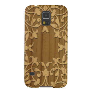 Intricate wooden carving galaxy s5 cover