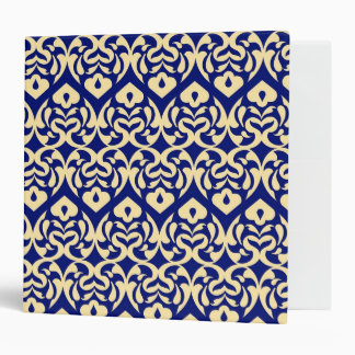 Intricate Yellow Heart Pattern Against Blue Binder
