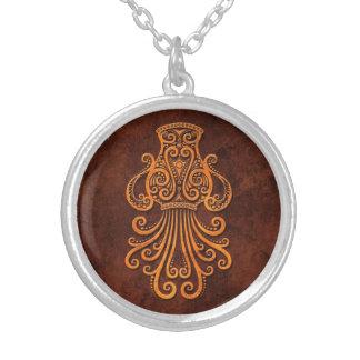 Intrictate Stone Aquarius Symbol Jewelry