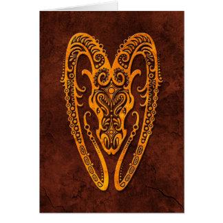 Intrictate Stone Aries Symbol Card