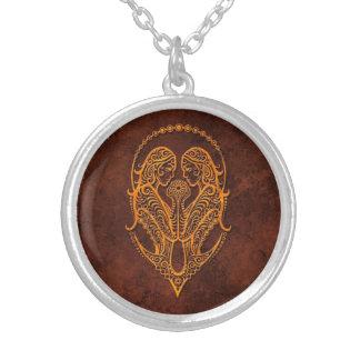 Intrictate Stone Gemini Symbol Pendant