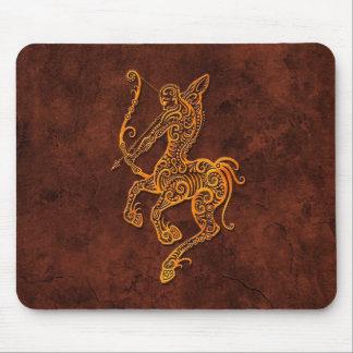 Intrictate Stone Sagittarius Symbol Mousepads