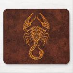 Intrictate Stone Scorpio Symbol Mouse Pad