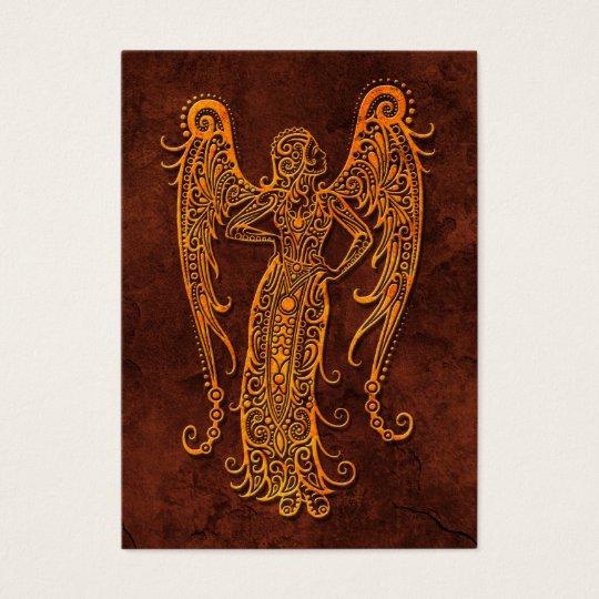 Intrictate Stone Virgo Symbol Business Card