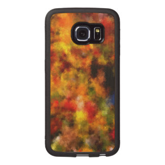 intriguing colorful pattern wood phone case