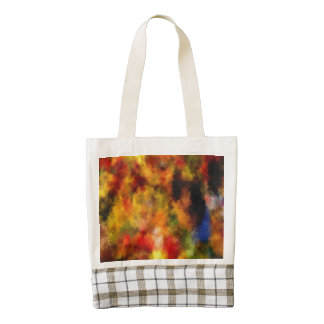 intriguing colorful pattern zazzle HEART tote bag