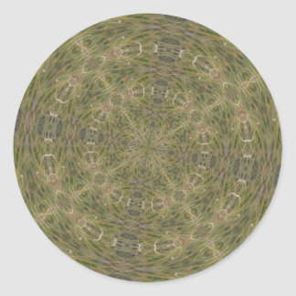 Intriguing Designed Pattern Classic Round Sticker