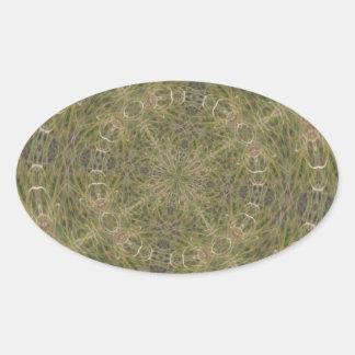 Intriguing Designed Pattern Oval Sticker
