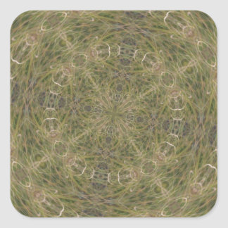 Intriguing Designed Pattern Square Sticker