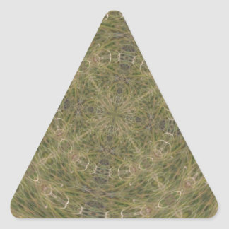 Intriguing Designed Pattern Triangle Sticker
