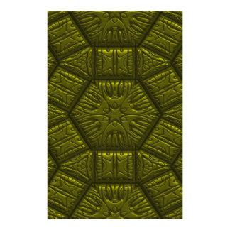 Intriguing shimmering Star Pattern,olive Stationery