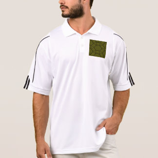 Intriguing shimmering Star Pattern,olive Polo T-shirts