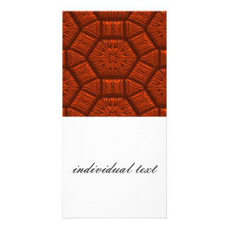 Intriguing shimmering Star Pattern,red Photo Card