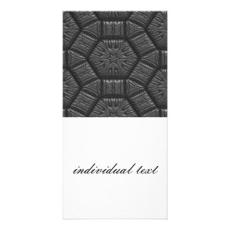 Intriguing shimmering Star Pattern,silver Photo Card