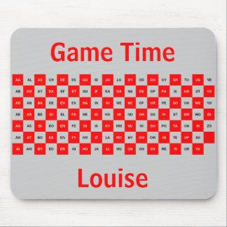 Intrl rojo y gris del mousepad de dos palabras de