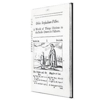 Introducción a 'Orbis Sensualium Pictus Impresión En Lienzo