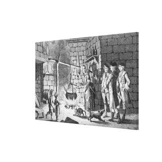 Introducción del Dr Samuel Johnson a una montaña Impresión En Lona Estirada