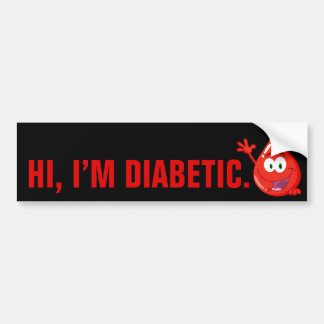 Introducción diabética pegatina para auto
