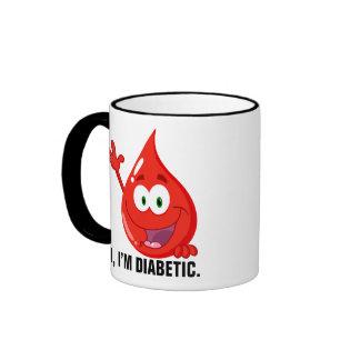 Introducción diabética taza a dos colores