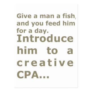 Introduce him to a creative CPA Postcard