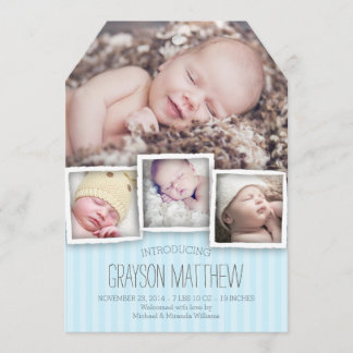 Introducing Baby Boy Birth Announcement