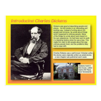 Introducing Charles Dickens Postcard