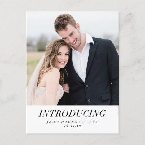 Introducing | Modern Photo Wedding Announcement