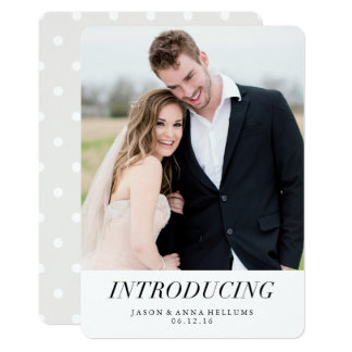 Introducing | Modern Photo Wedding Announcements
