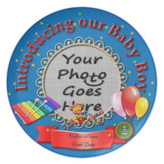 Introducing Our Baby Boy Keepsake Plate